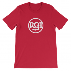 Logo RCA Bella Canvas 3001 T Shirt Front Flat Red etzy